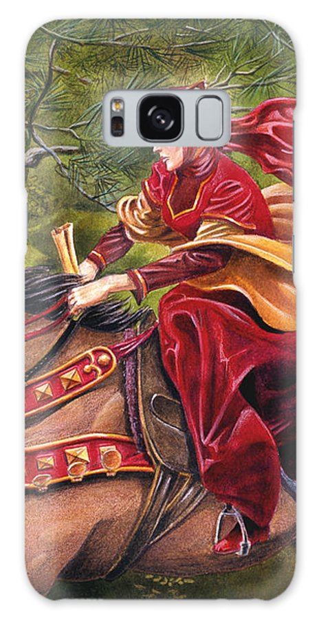 Camelot Galaxy S8 Case featuring the painting Lady Lunete by Melissa A Benson