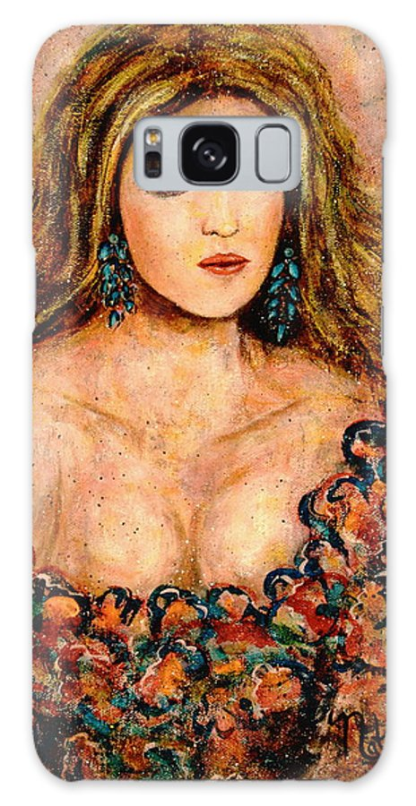 Portrait Of A Lady Galaxy S8 Case featuring the painting Lady by Natalie Holland