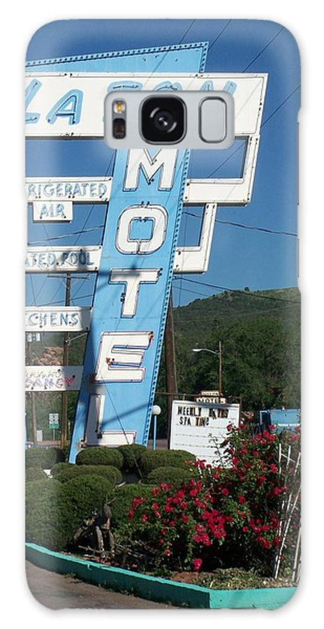 Vintage Motel Signs Galaxy Case featuring the photograph Lafon Motel by Anita Burgermeister