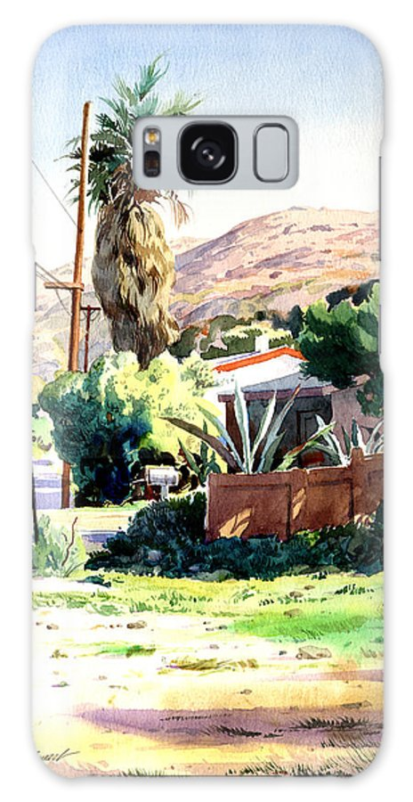 Watercolor Galaxy Case featuring the painting Laguna Canyon Palm by John Norman Stewart