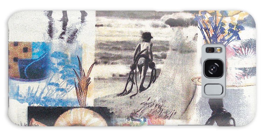 Abstract Galaxy Case featuring the painting Lajolla by Valerie Meotti