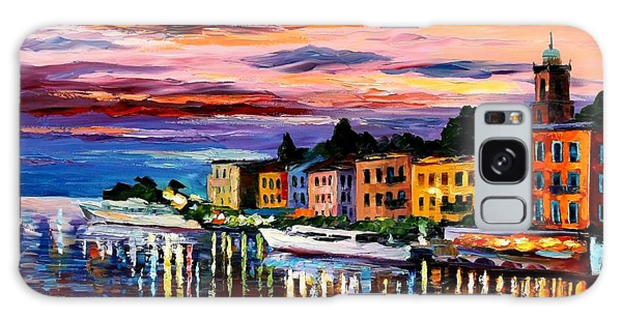 Cityscape Galaxy S8 Case featuring the painting Lake Como - Bellagio by Leonid Afremov