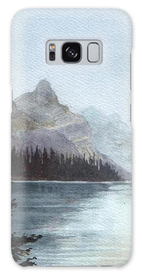 Watercolor Galaxy S8 Case featuring the painting Lake Helevorn by Brenda Owen