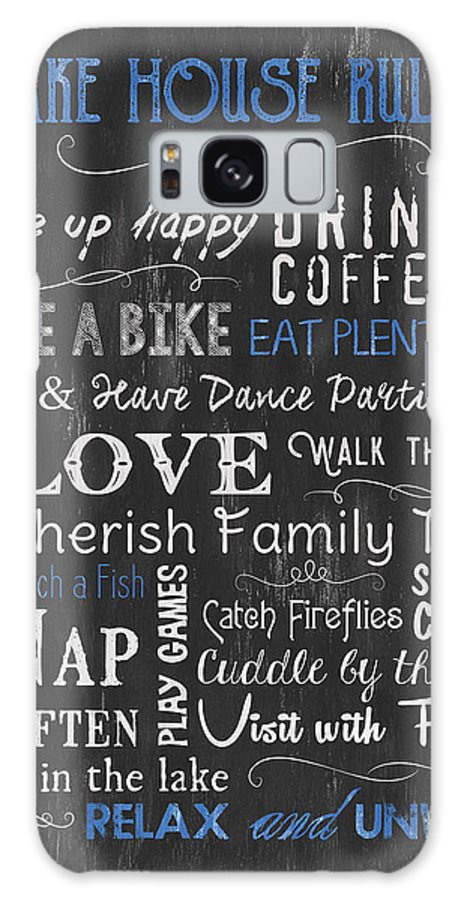 Lake Galaxy Case featuring the painting Lake House Rules by Debbie DeWitt