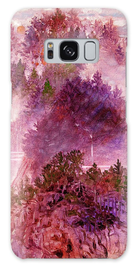 Landscape Galaxy Case featuring the painting Lake Memories by John Lautermilch