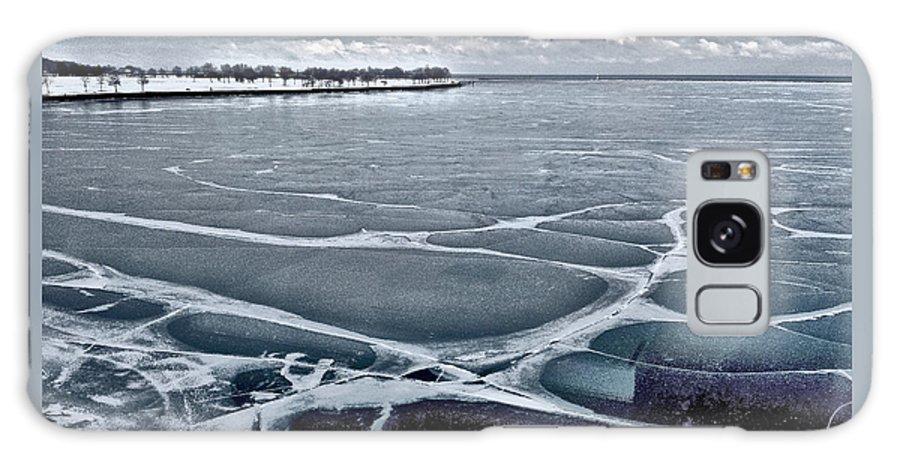 Frozen Galaxy S8 Case featuring the photograph Lake Michigan Frozen by Barbara Budish