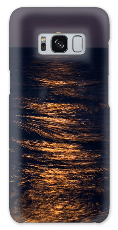 Chicago Galaxy S8 Case featuring the photograph Lake Michigan Moonrise by Steve Gadomski