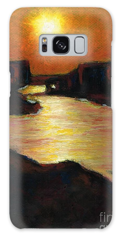 Lake Powell Galaxy S8 Case featuring the painting Lake Powell At Sunset by Frances Marino
