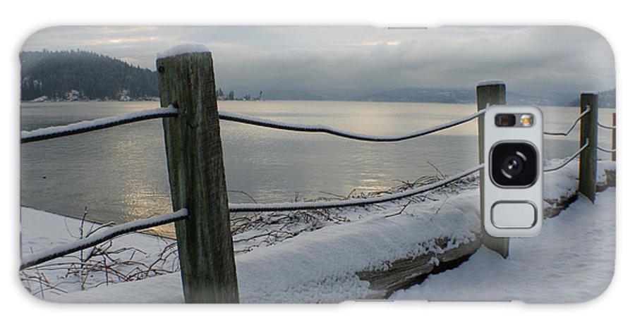Fence Galaxy S8 Case featuring the photograph Lake Snow by Idaho Scenic Images Linda Lantzy