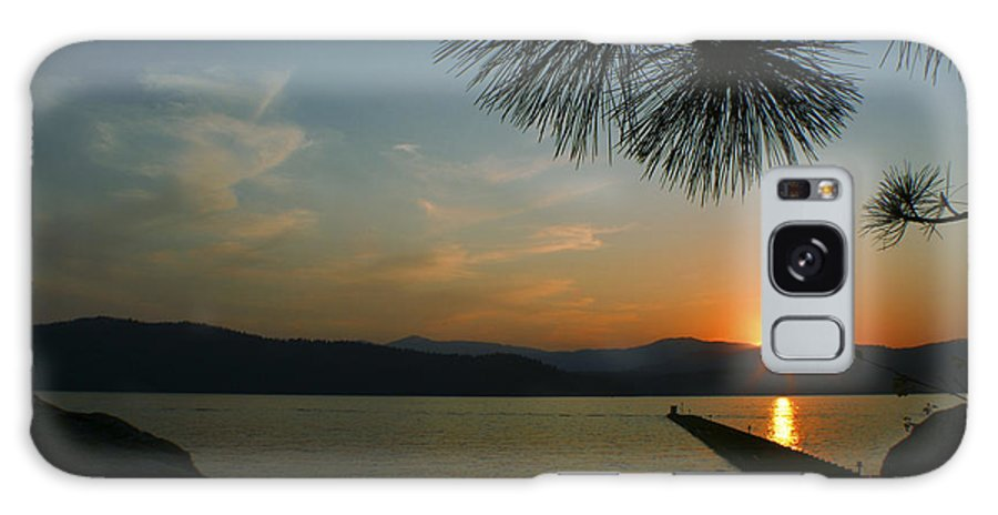 Sunset Galaxy S8 Case featuring the photograph Lake Sunset by Idaho Scenic Images Linda Lantzy