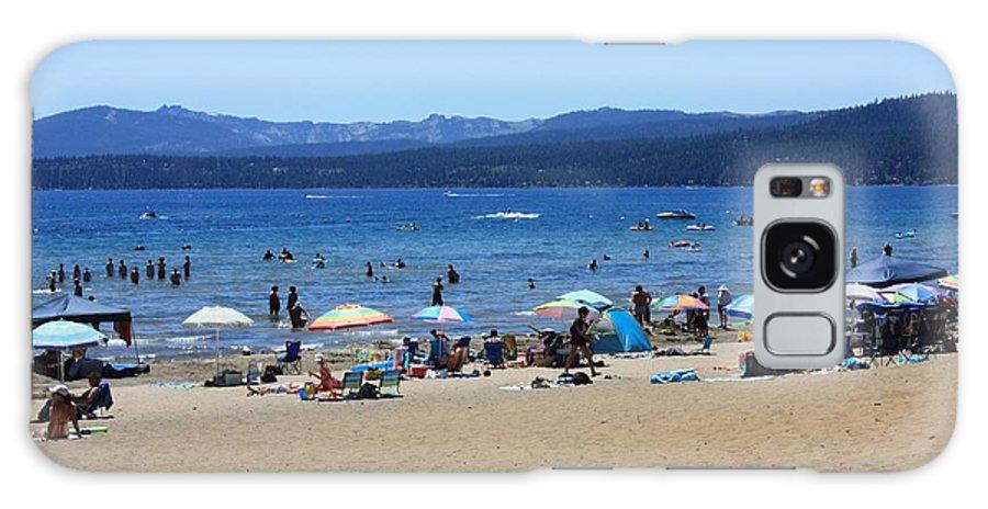 Lake Tahoe Galaxy S8 Case featuring the photograph Lake Tahoe Beach Scene by Carol Groenen