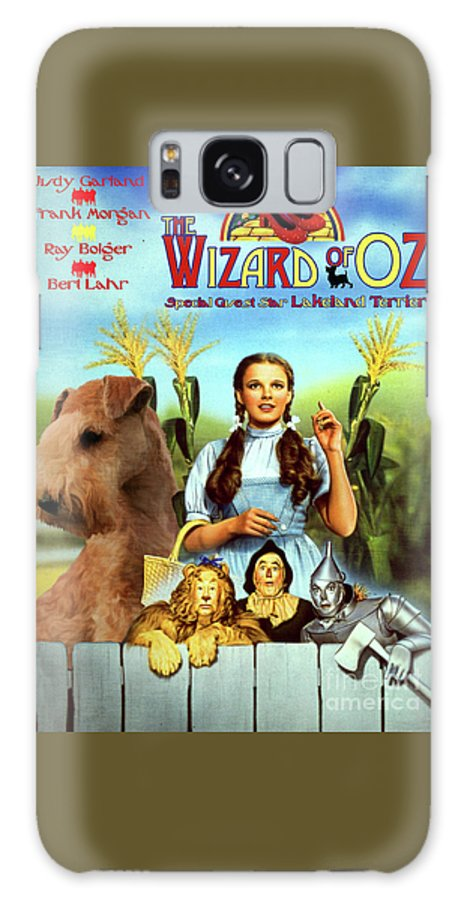 Lakeland Terrier Galaxy S8 Case featuring the painting Lakeland Terrier Art Canvas Print - The Wizard Of Oz Movie Poster by Sandra Sij