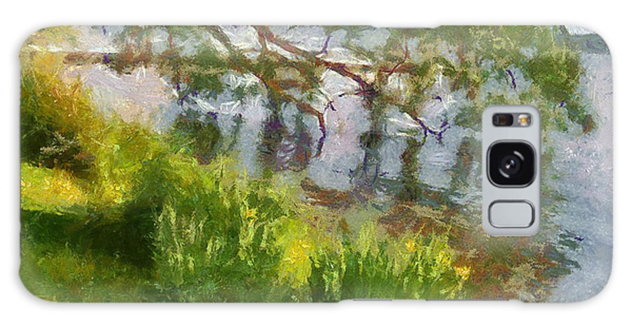 Lake Galaxy S8 Case featuring the painting Lakeshore by Anthony Caruso