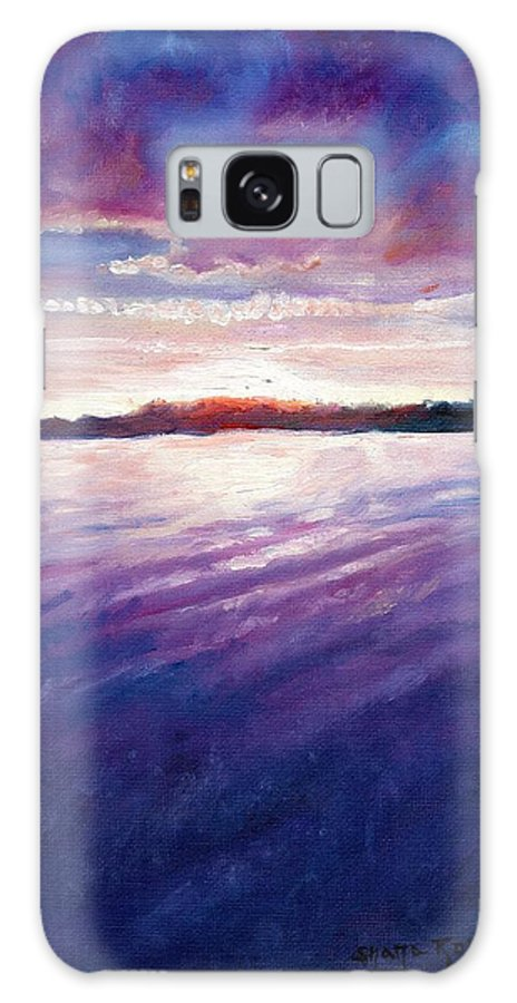 Lake Galaxy S8 Case featuring the painting Lakeside Sunset by Shana Rowe Jackson