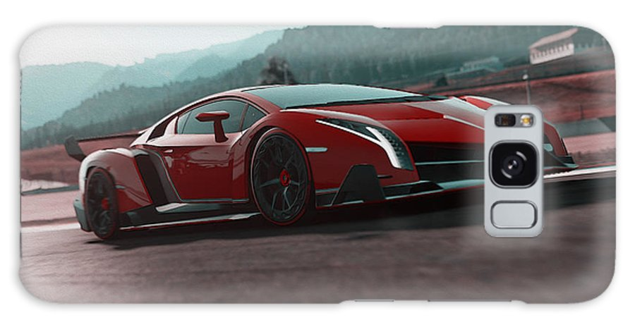 Lamborghini Galaxy S8 Case featuring the painting Lamborghini Veneno by Andrea Mazzocchetti