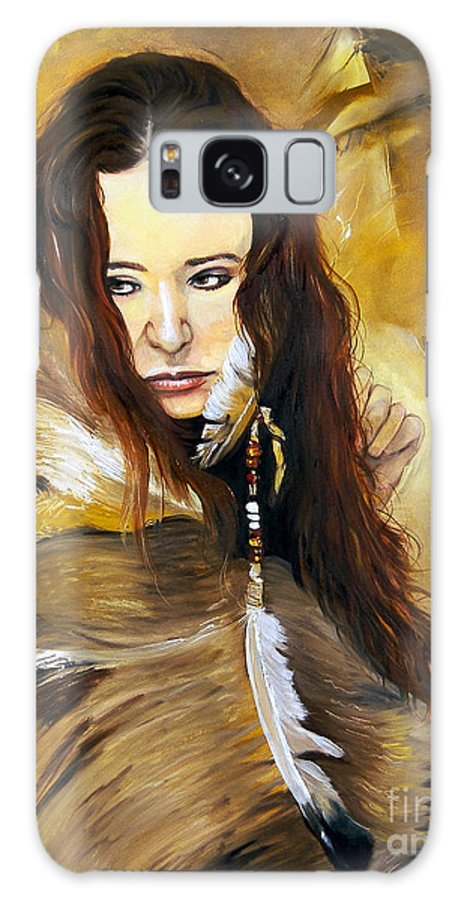 Southwest Art Galaxy S8 Case featuring the painting Lament by J W Baker