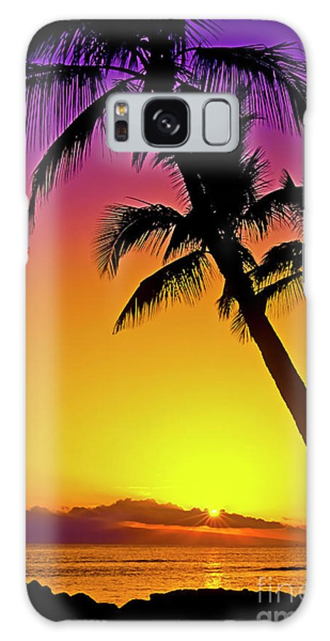 Sunset Galaxy S8 Case featuring the photograph Lanai Sunset II Maui Hawaii by Jim Cazel