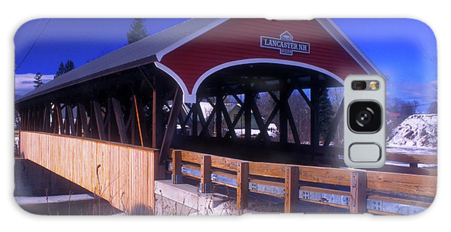 Covered Bridge Galaxy S8 Case featuring the photograph Lancaster Covered Bridge by John Burk
