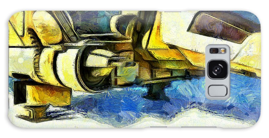Land Galaxy S8 Case featuring the painting Landed Imperial Shuttle - Pa by Leonardo Digenio