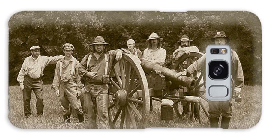Sepia Galaxy Case featuring the photograph Landis Battery Missouri Brigade by David Dunham