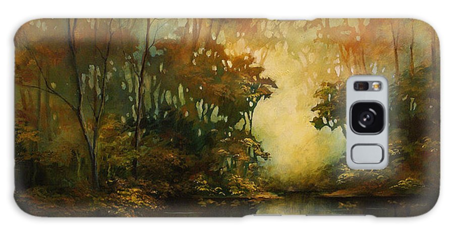 Abstract Art Galaxy S8 Case featuring the painting Landscape 3 by Michael Lang