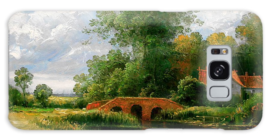 Landscape Galaxy S8 Case featuring the painting Landscape by Arthur Braginsky