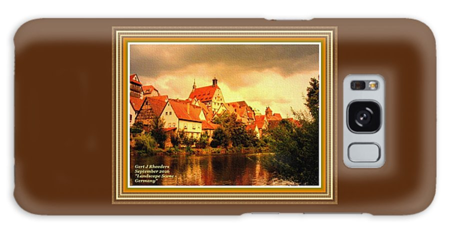 Landscape Galaxy S8 Case featuring the painting Landscape Scene - Germany L A With Decorative Ornate Printed Frame. by Gert J Rheeders