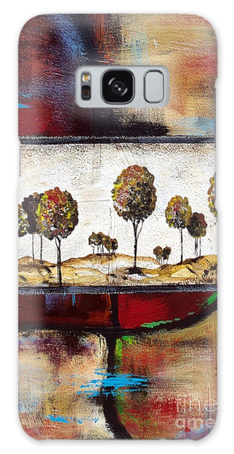 Painting Galaxy S8 Case featuring the painting Landscape Vignettes-3 by Jean Plout