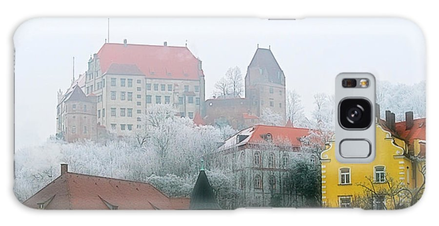 City Galaxy S8 Case featuring the photograph Landshut Bavaria On A Foggy Day by Christine Till