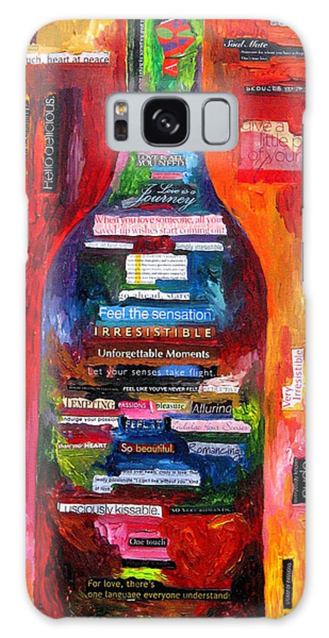 Wine Galaxy S8 Case featuring the painting Language Of Love by Patti Schermerhorn