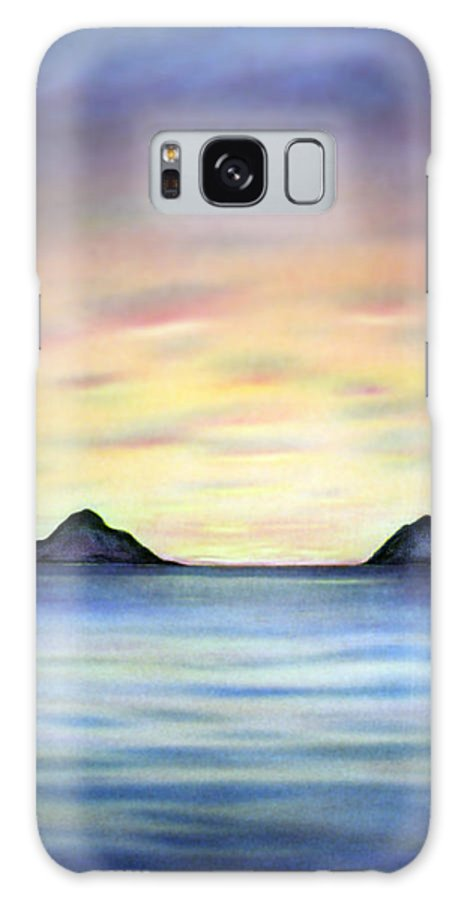 Lanikai Galaxy S8 Case featuring the painting Lanikai Dawn by Kevin Smith