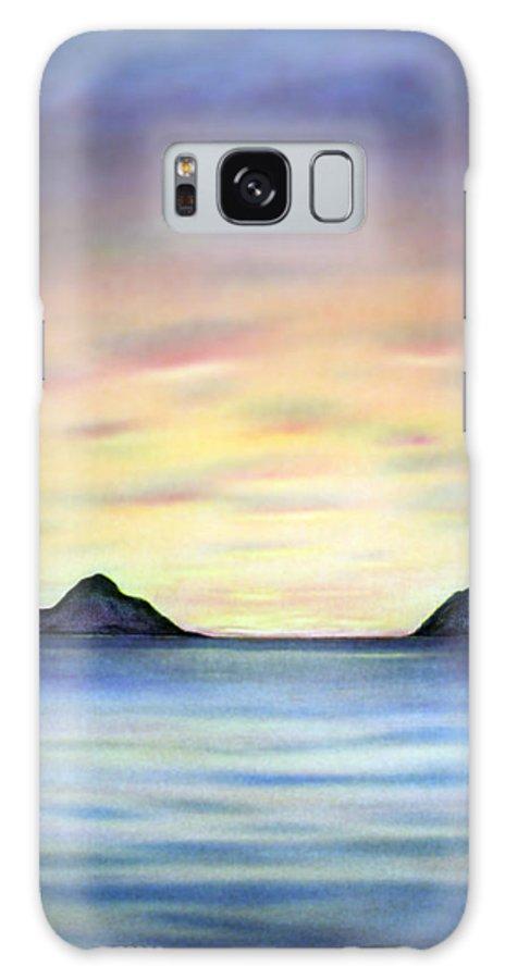 Lanikai Galaxy S8 Case featuring the painting Lanikai Dawn by Kevin Smith
