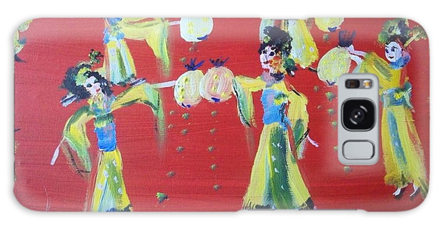 Lantern Galaxy S8 Case featuring the painting Lantern Dance by Judith Desrosiers