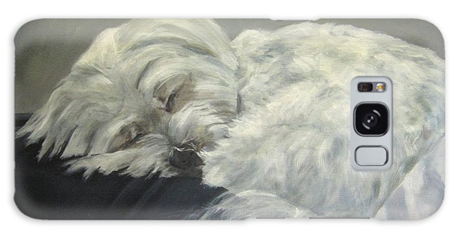 Maltese Dogs Galaxy S8 Case featuring the painting Lap Dog by Elizabeth Ellis