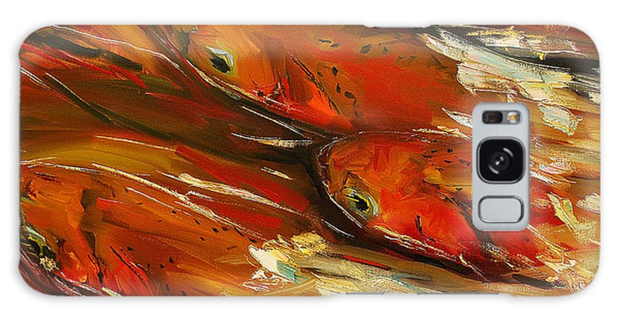 Trout Galaxy S8 Case featuring the painting Large Trout Stream Fly Fish by Diane Whitehead