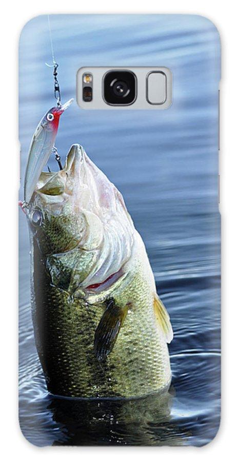 Bas Galaxy S8 Case featuring the photograph Largemouth Bass by Glenn Gordon