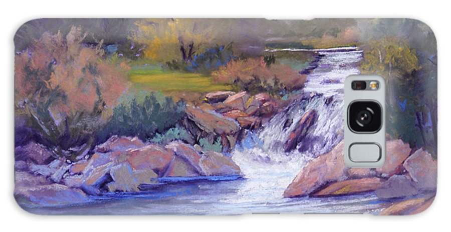 Pastel Galaxy S8 Case featuring the painting Larsen Falls by Heather Coen