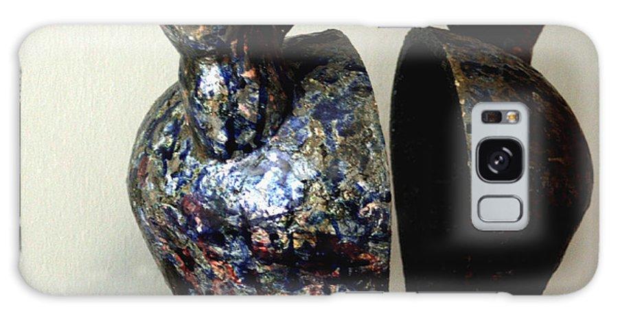 Ceramic Galaxy S8 Case featuring the sculpture Las Venas Abiertas De America Latina by Madalena Lobao-Tello