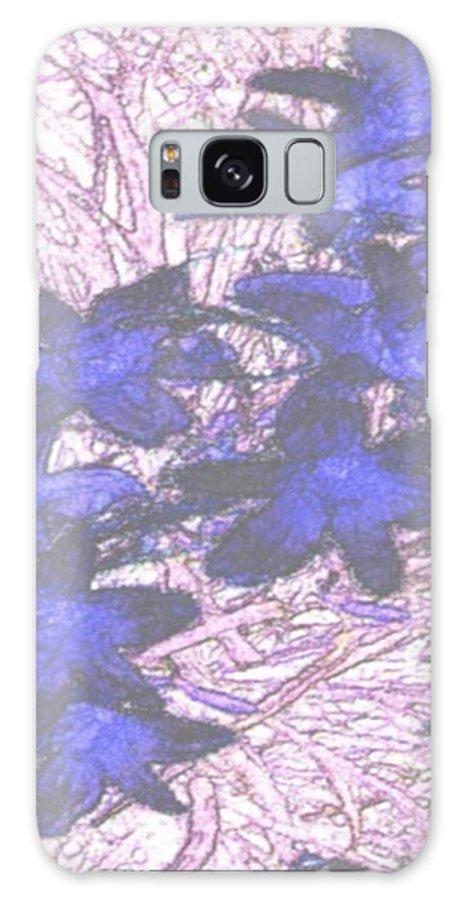 Flowers.early Winter Galaxy Case featuring the digital art Last Frozen Flowers by Dr Loifer Vladimir