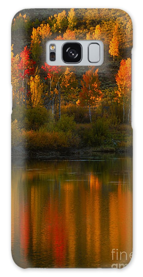 Grand Teton Galaxy S8 Case featuring the photograph Last Light At Oxbow Bend by Sandra Bronstein
