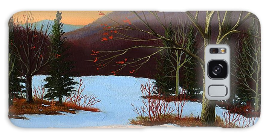 Winter Galaxy Case featuring the painting Last Light Of Day by Frank Wilson