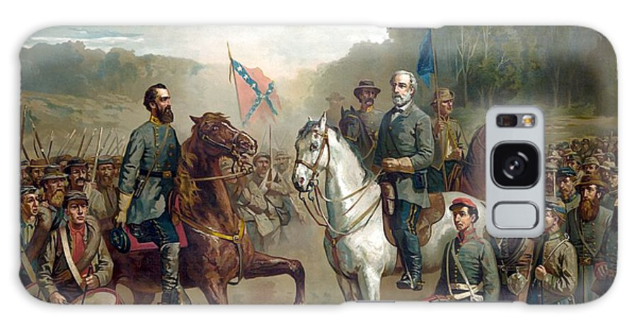 Robert E Lee Galaxy Case featuring the painting Last Meeting Of Lee And Jackson by War Is Hell Store