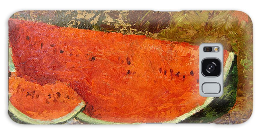 Watermelon Galaxy Case featuring the painting Last Of Summer by Ginger Concepcion