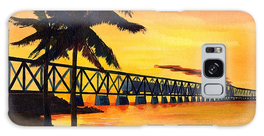 Florida Galaxy S8 Case featuring the painting Last Train To Paradise by CB Woodling