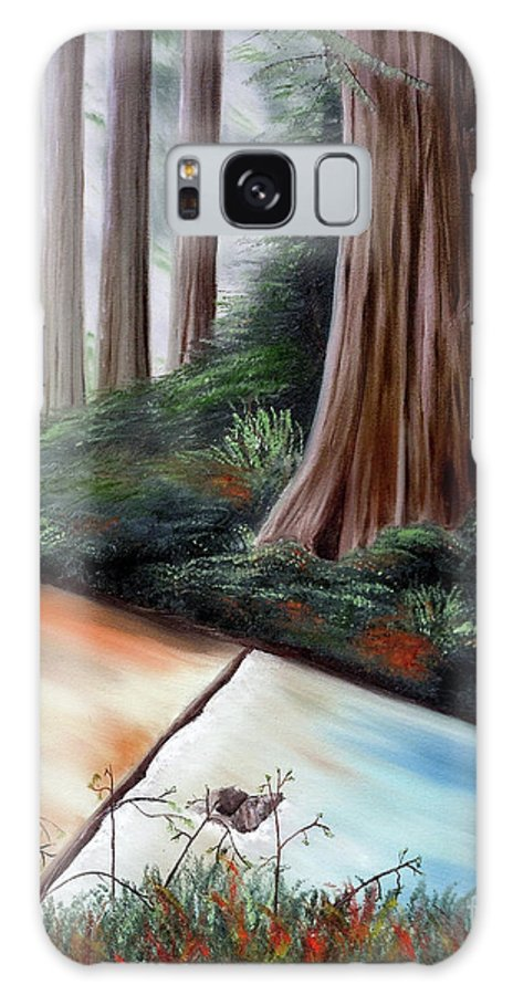 Redwood Galaxy S8 Case featuring the painting Late Autumn At Sanborn Skyline by Laura Iverson