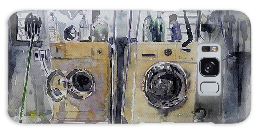 Laundry Room Galaxy S8 Case featuring the painting Laundry Room. by Rajadawan Onpaow
