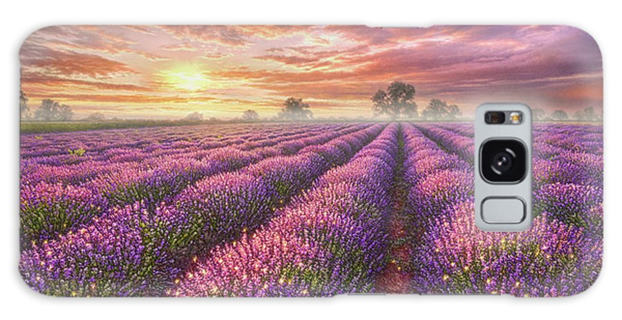 Lavender Galaxy Case featuring the painting Lavender Field by Phil Jaeger