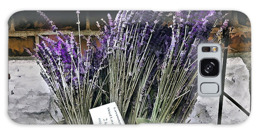 Flower Galaxy S8 Case featuring the painting Lavender For Sale by Elaine Manley