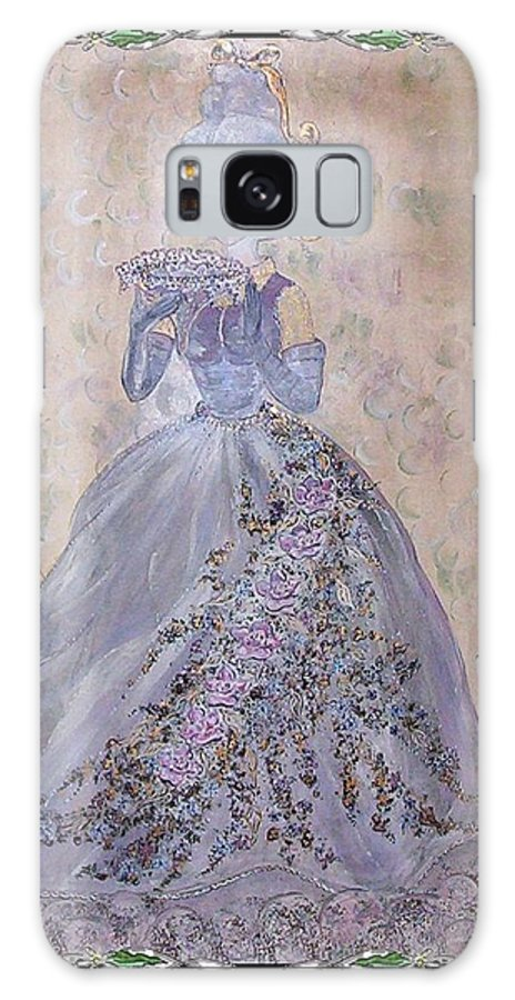 Still Life Galaxy S8 Case featuring the painting Lavender Lady by Phyllis Mae Richardson Fisher