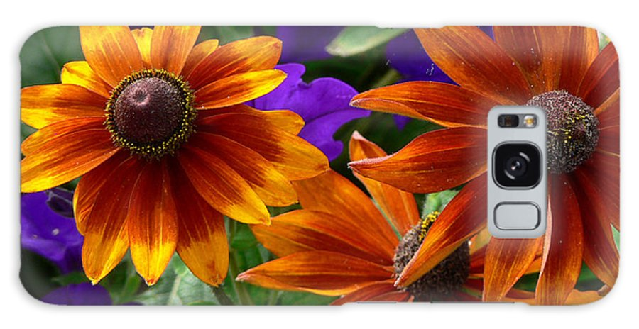 Flowers Galaxy S8 Case featuring the photograph Layers Of Color by Larry Keahey